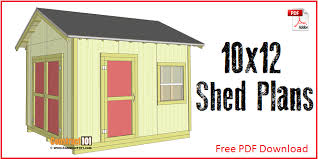 Diy 10x12 Storage Shed Plans by Free Shed Plans With Drawings Material List Free Pdf Download