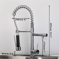 deck mount large spring kitchen faucet dual spout vessel mixer tap