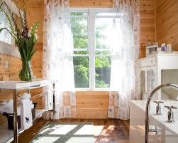 Rustic Bathroom Flooring Design U0026 Decorating Rustic Bathroom With Knotty Pine Walls White