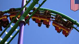 Six Flags Texas Death Joker U0027s Jinx Roller Coaster Malfunction At Six Flags America
