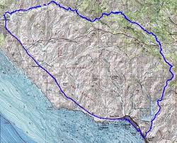 Cambria Map Description Of A Bike Ride From Cayucos To Cambria Via Old Creek