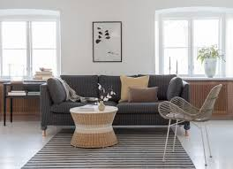 bemz respect fabrics karlstad 3 seater sofa cover in silver grey