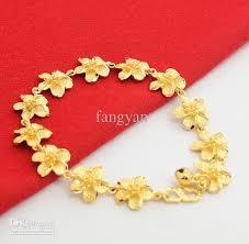 silver gold plated bracelet images Wholesale jewelry 925 silver gold plated 24k women spend bracelet jpg