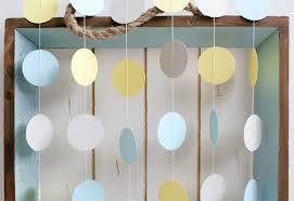 light yellow baby light blue yellow grey 12 ft circle paper garland wedding