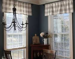 buffalo check curtains etsy