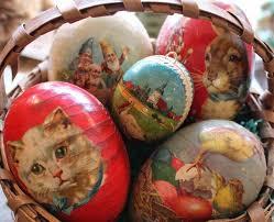 vintage paper mache easter eggs 77 best antique paper mâché eggs images on easter eggs