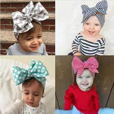 baby headwrap 2016 headband diy tie bow hairbands big bow dot print baby