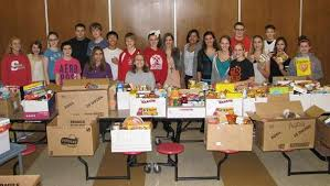 indian crest middle school holds annual thanksgiving food drive