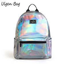holographic bags fashion women s hologram backpacks for teenagers laser