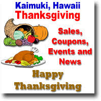 kaimuki thanksgiving coupons sales specials news