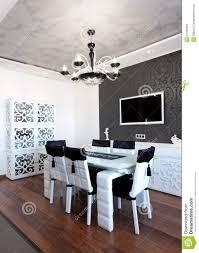 colori sala da pranzo colori moderni della sala da pranzo in bianco e nero immagine