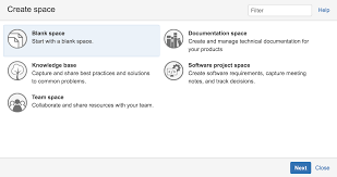 create a space from a template atlassian documentation