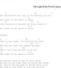 The Light Of The World Is Jesus Christian Gospel Song Lyrics And