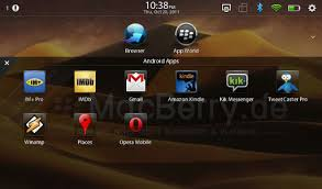 blackberry app world for android android apps running smooth on bbx 2 0 beta for the blackberry