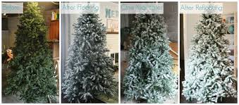 diy flocked tree one year later lovely etc