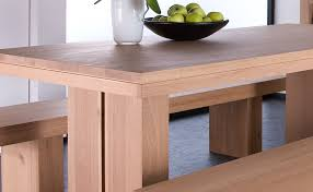 buy oak double extending dining table online furntastic