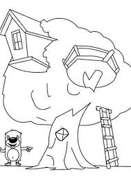 coloring picture of tree house