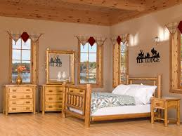 Wooden Log Beds Interior Contempo Rustic Wood Bedroom Decoration Using Rustic