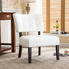 Tufted Accent Chair Roundhill Furniture Blended Leather Tufted Accent