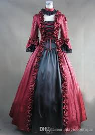 red puff sleeves rococo ball gown gothic medieval victorian dress