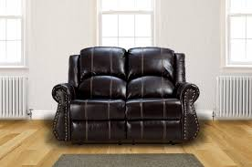 2 Seat Leather Reclining Sofa New Salisbury 2 Seater Bonded Leather Home Lounge Recliner Sofa Brown