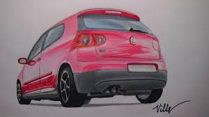 volkswagen drawing volkswagen golf gti speed drawing youtube