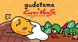 gudetama x curry house sweet happy news sanrio