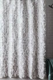 White Faux Silk Curtains Boutonniere White Faux Silk Shower Curtain 70 X