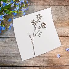 product daisies flower stencil template laser cut stencils