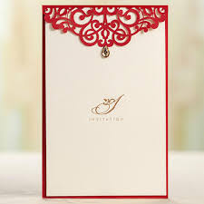 Wedding Invitation Blank Cards Royal Red Wedding Invitation Card And Menu Customized Printing