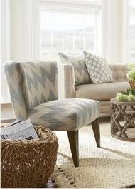 Chevron Accent Chair Vibe Armless Accent Chair Soft Blue Chevron Scenario Home