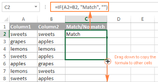 excel compare two tables find only matching data excel compare two columns for matches and differences