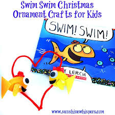 swim swim christmas ornament crafts for kids sunshine whispers
