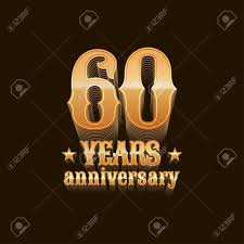 60 years anniversary 60 years anniversary vector icon 60th birthday decoration design