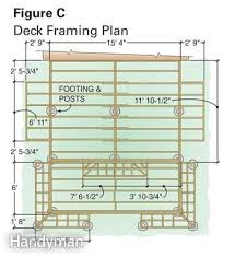 deck floor plan dream deck plans family handyman
