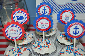 nautical baby shower cupcake toppers boys baby shower