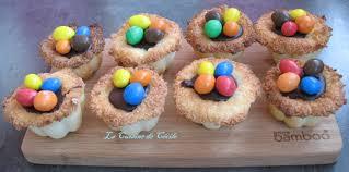 cuisine de paques nids de pâques chocolat et coco la cuisine de cécile