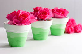 flower pot favors mini ombre painted flower pots an easy diy gift party favor or