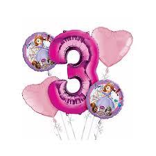 birthday balloon bouquets the 3rd birthday balloon bouquet 5pc