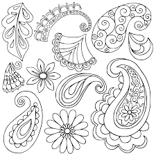 easy paisley coloring pages printable coloring pages