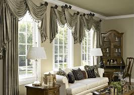 deluxe long grey ruffle pattern spanish style basement window