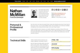 resume html template html resume templates to help you land a
