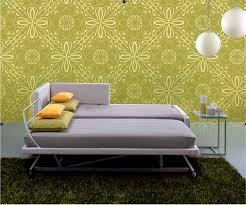 lit canapé gigogne canapé contemporain en tissu 2 places avec lit gigogne