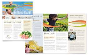 health insurance company newsletter template design