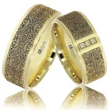 modele de verighete verighete atcom personalizate viorica aur galben cu alb ornate