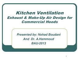 hood kitchen exhaust modified bau