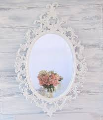 White Wall Mirror French Country Mirrors For Sale Oval Shabby Chic Mirror 33