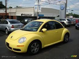 volkswagen bug yellow 2006 sunflower yellow volkswagen new beetle 2 5 coupe 9696905