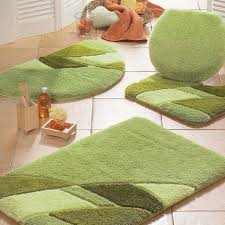 Green Bathroom Rugs Marvelous Bathroom Accessories Ideas Present Prepossessing Green