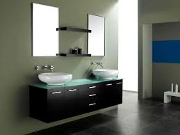 Bathroom Mirror Decorating Ideas Sleek Hanging Vanity Sink Design Idea With Ultra Modern Bathroom